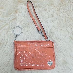 Small coach wristlet/keychain